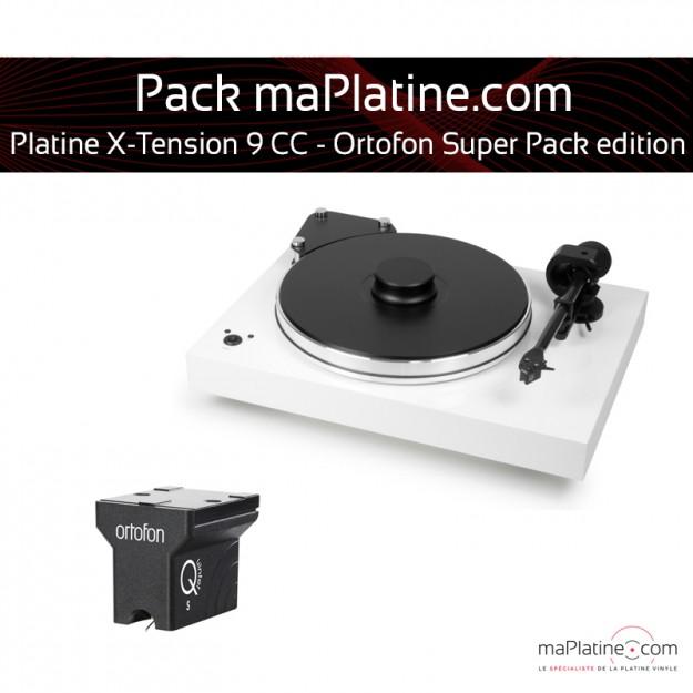 Platine vinyle Pro-Ject X-Tension 9 - Ortofon Super Pack Edition - Blanc