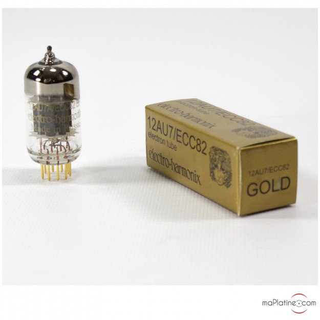 Tube audio double triode 12AU7-EH Gold Electro Harmonix