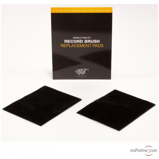 Paire de tampon velours de rechange Mofi pour brosse Record cleaning brush