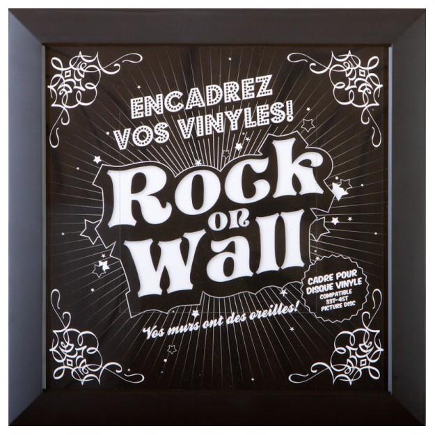 Cadre pour vinyle Rock on Wall