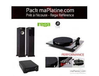 Pack Prêt à l'écoute REGA Reference - noir