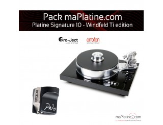 Pack Platine vinyle Pro-Ject Signature 10 - Windfeld Ti édition