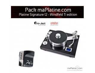 Pack Platine vinyle Pro-Ject Signature 12 - Windfeld Ti édition