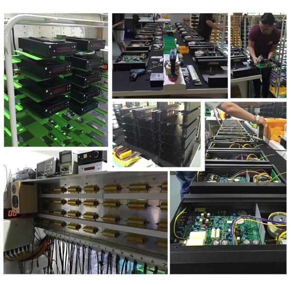 Fabrication des amplificateurs REGA