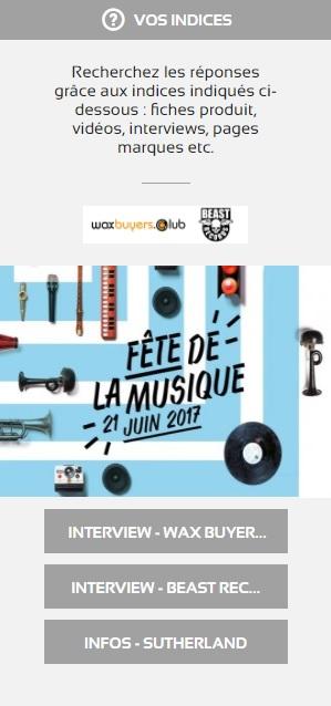 Indices Jeu concours Fete de la musique 2017
