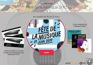Pop up jeu concours Fete de la musique 2017