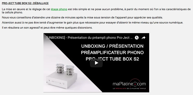 Déballage vidéo unboxing Tube Box S2