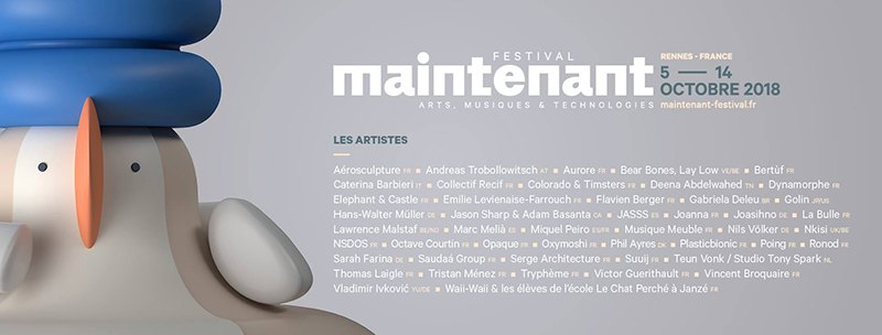 Festival Maintenant 2018 programme