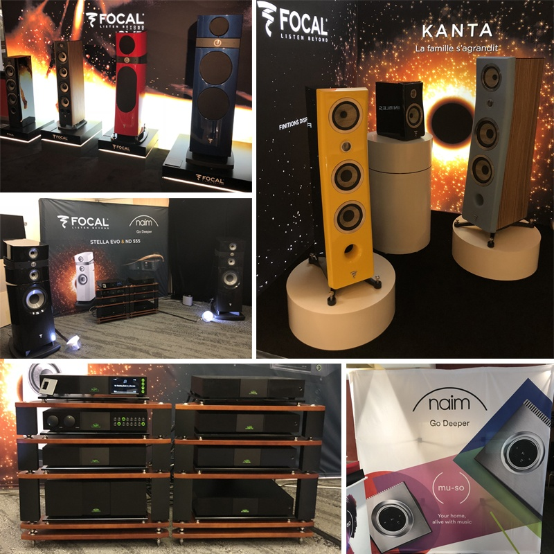 Les marques Focal/Naim Audio au salon Paris AudioVideo Show 2018