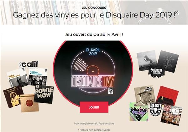 Pop up jeu concours Disquaire Day 2019