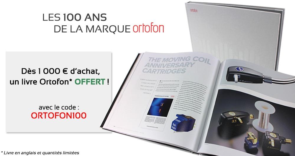 Pour l'achat de 1000€, un livre sur les 100 ans d'Ortofon offert