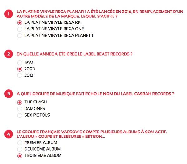 Réponses du jeu concours de la Musique 2020 - maPlatine.com