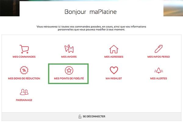 Compte client maPlatine.com