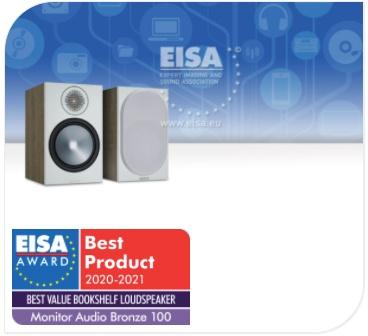 Prix EISA 2020-2021 - Enceintes Monitor Audio Bronze 100