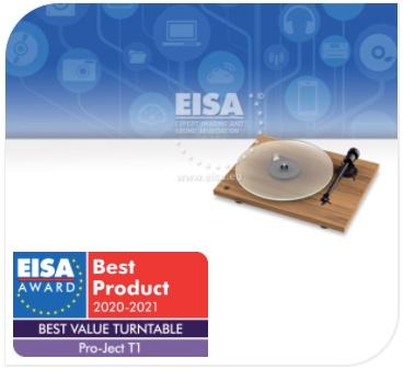 Prix EISA 2020-2021 - Platine vinyle Pro-Ject T1