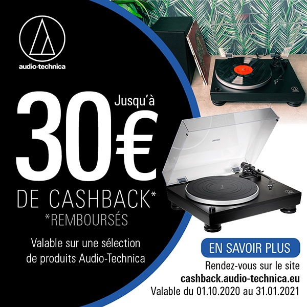 Cashback Audio Technica - Platine vinyle AT-LP5x