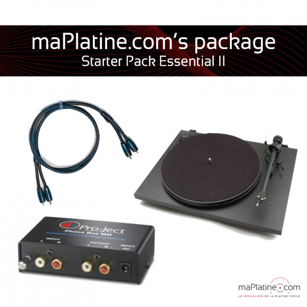 Starter Pack - Platine vinyle Pro-Ject Essential II