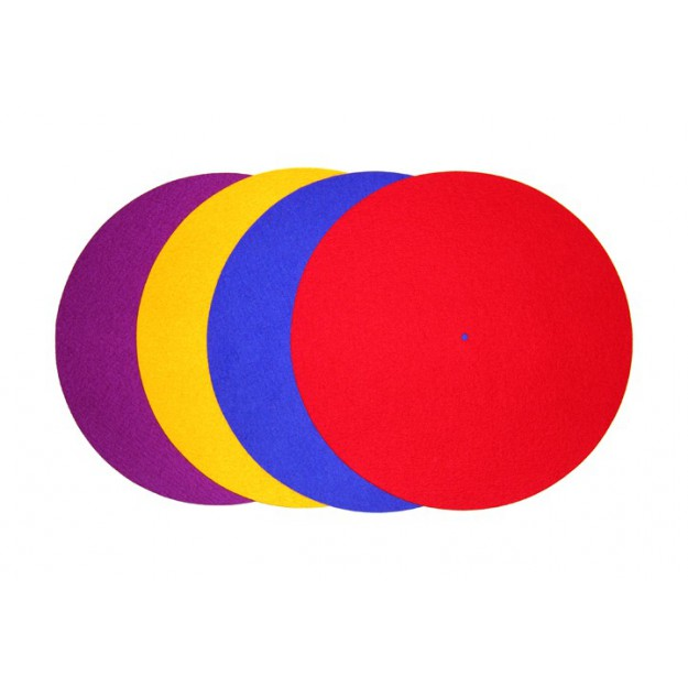REGA turntable colour platter mat