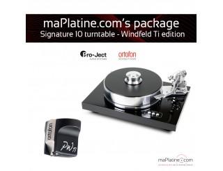 Pack Platine vinyle Pro-Ject Signature 10 - Windfeld Ti édition