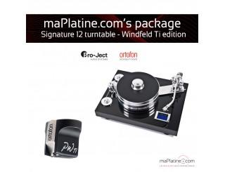 Pack Platine vinyle Pro-Ject Signature 12 - Windfeld Ti édition