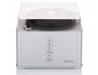 Clearaudio Smart Matrix Pro Silver record cleaning machine with cover.