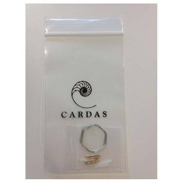 4 CARDAS rhodium cartridge clips