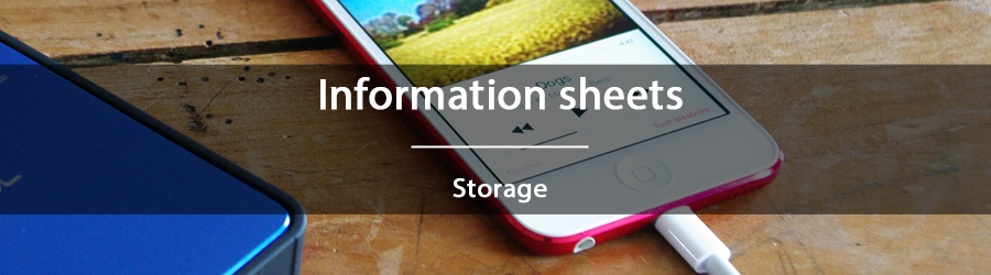 Information sheets - Storage