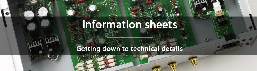 Information sheets - Getting down to technical details
