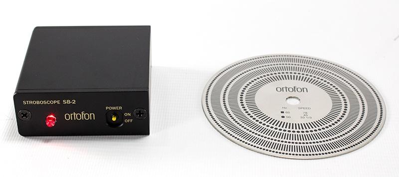 "Ortofon SB-2 stroboscope (light source and disc"""