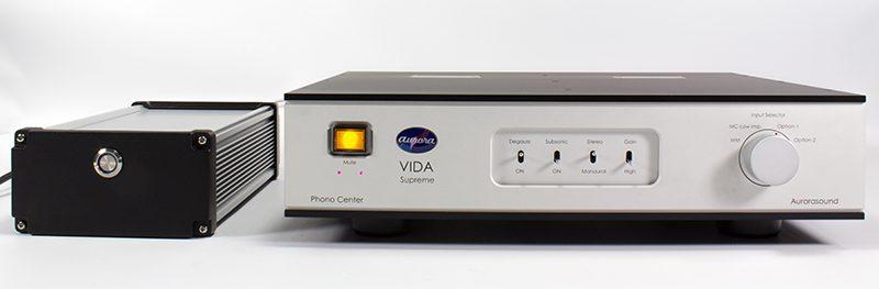 Aurorasound Vida Supreme - Phono preamp and its power supply