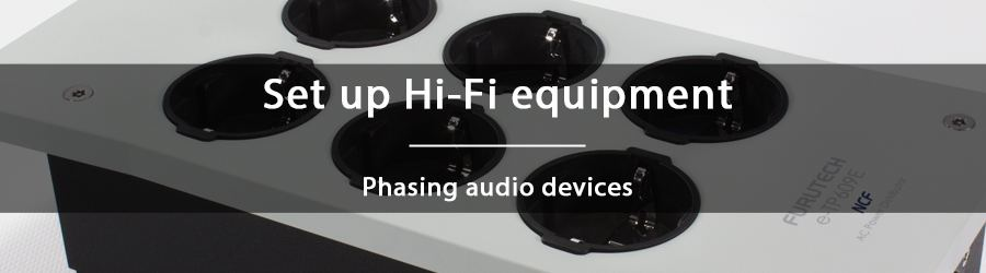 How to phase audio devices?