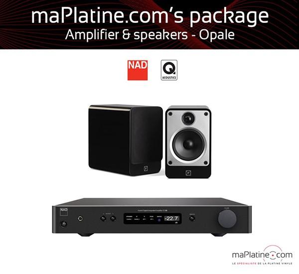 Opale amplifier and speaker package