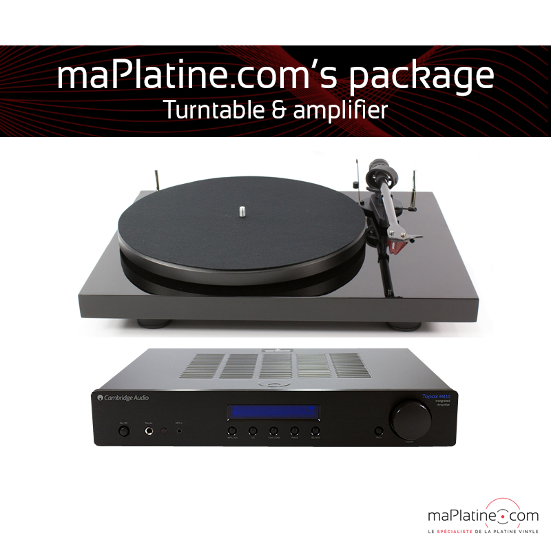 Turntable and amplifier package