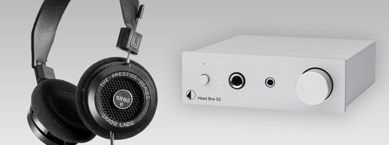 Listening a Grado SR60e Hi-Fi headphones with a Head Box S2 headphone amplifier