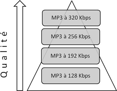 Niveau de qualité d'une format Lossy MP3
