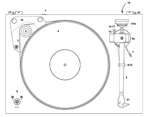 Schéma explicatif d'une platine vinyle Pro-Ject X-tension 9