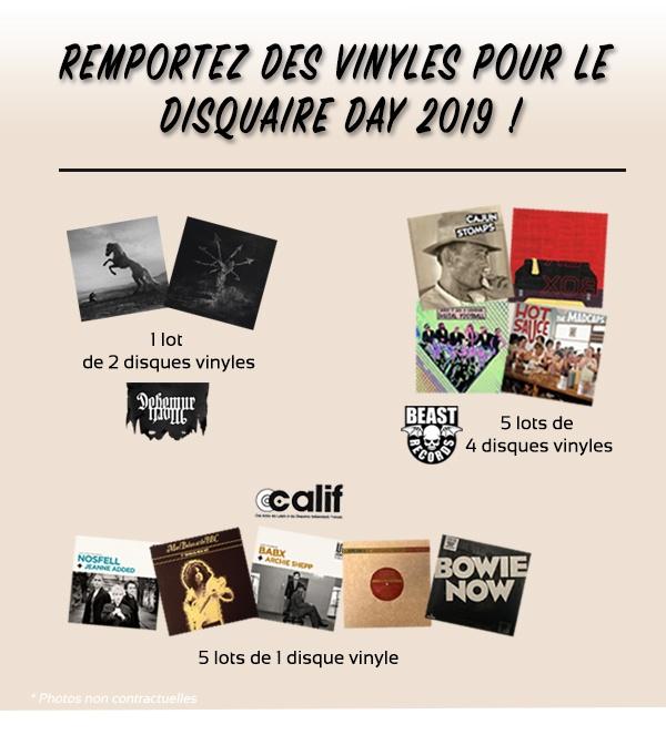 Lots de vinyles jeu concours Disquaire Day 2019