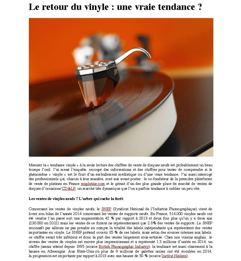 Press article République du Son