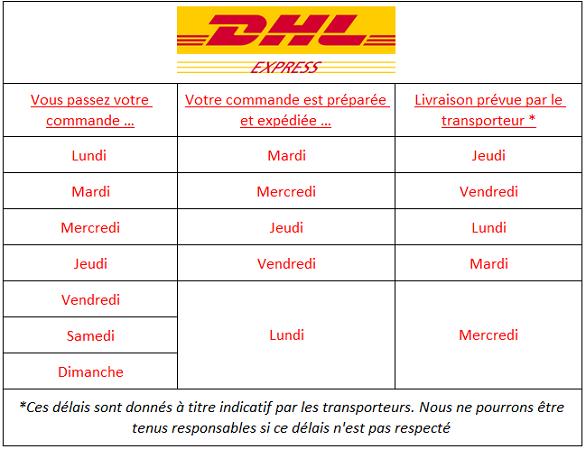 Délais de livraison DHL Express France
