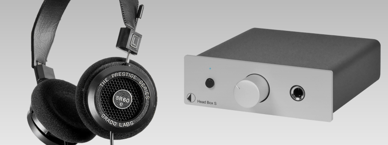 Listening a Grado SR60e Hi-Fi headphones with a Head Box S headphone amplifier