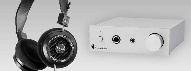 Ecouter un casque Grado SR60e avec un ampli casque Pro-Ject Head Box S2