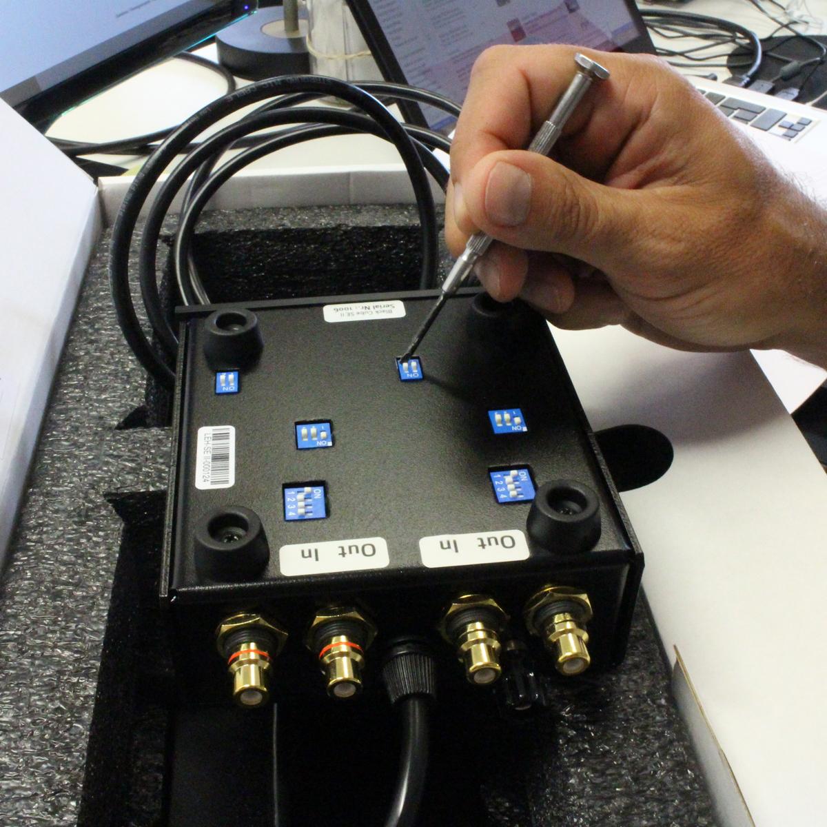 Setting of a Lehmann Black Cube SE II phono preamp